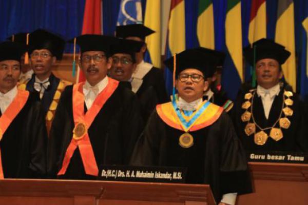 Lagu Syubbanul Wathan Iringi Pengukuhan Doktor Honoris Causa Cak Imin