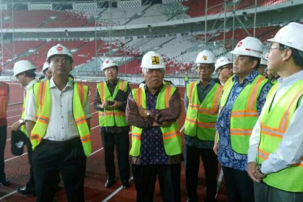 Menteri PUPR Tinjau Renovasi Stadion Gelora Bung Karno
