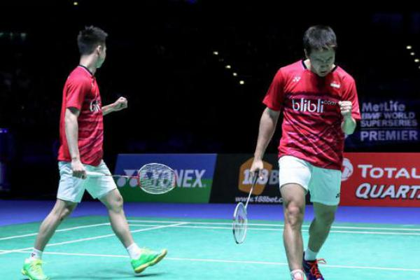 Ganda Putra Indonesia Tapaki Babak Final Usai Tundukkan India