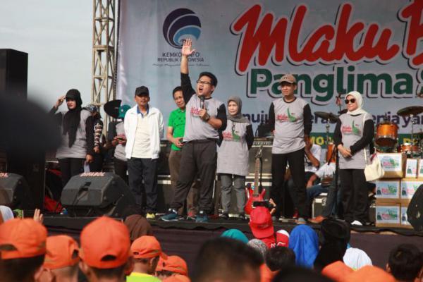 Mlaku Bareng di Mojokerto, Cak Imin: Ayo Hidup sehat!