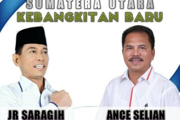 JR Saragih-Ance Selian Resmi Maju di Pilgub Sumut