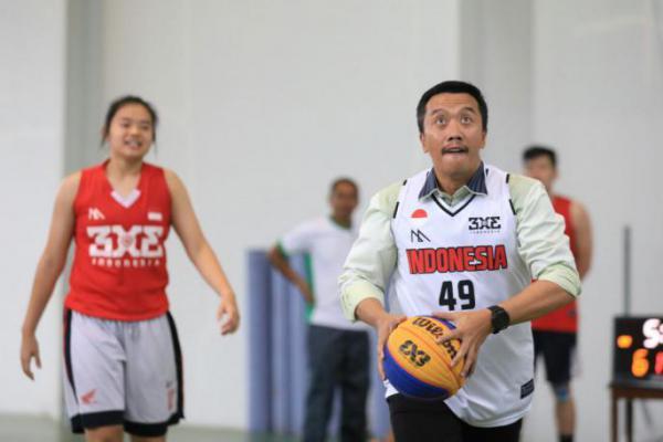 Menpora Kunjungi Pelatnas Basket 3x3 Asian Games