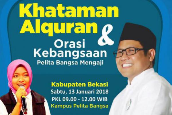 Cak Imin Dijadwalkan Hadiri Khataman Alquran di Bekasi