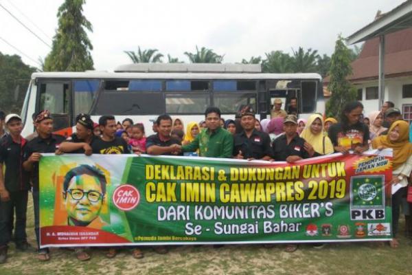 """Komunitas """"Bikers"""" di Jambi Dukung Cak Imin Cawapres"""