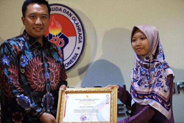 Rifdah Farnidah, Juara II MHQ Dunia Dapat Apresiasi Dari Menpora RI
