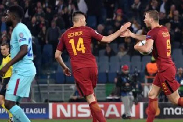 Lumat Barcelona, AS Roma Melaju ke Semifinal