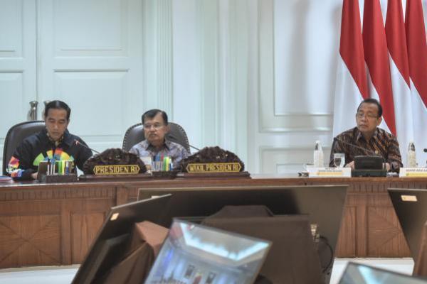 Temui Jokowi, KPU Laporkan Tahapan Pemilu 2019