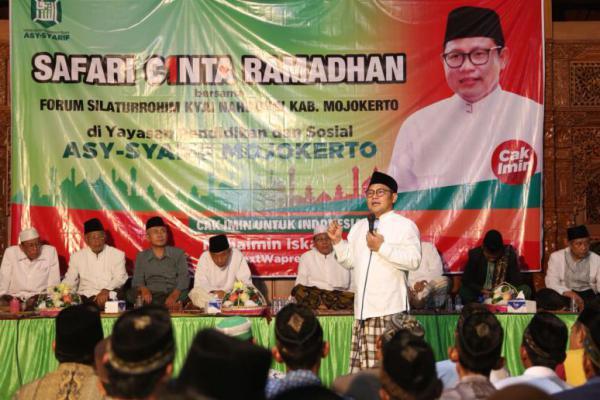Di Hadapan Kiai Se-Mojokerto, Cak Imin Optimis PKB jadi Partai Pemenang Kedua