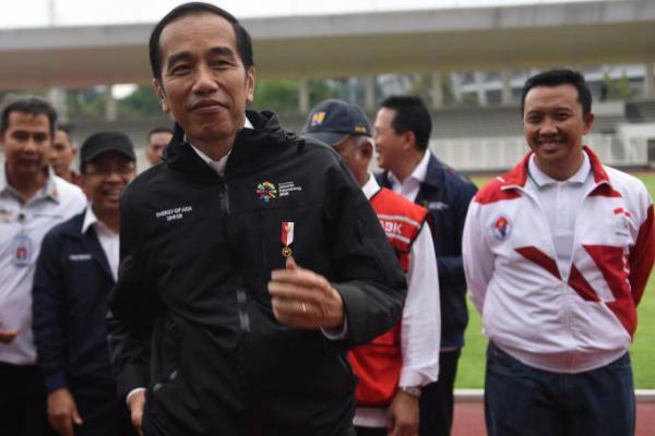 Dukung Perjuangan Atlet Asian Games, Jokowi: Saya Minta Masuk 10 Besar
