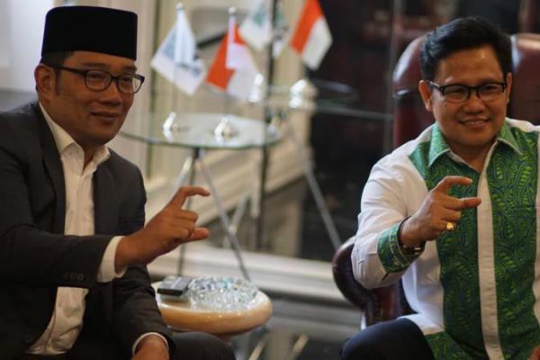 Ridwan Kamil Temui Cak Imin Melaporkan Hasil Pilkada Jabar