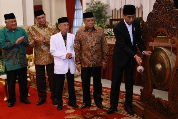 Mars NU Bergema di Istana, Begini Kata Jokowi