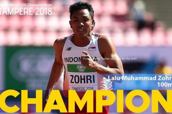 Zohri Juara Dunia, Kemenpora Beri Beasiswa dan Uang Pembinaan Rp250 Juta