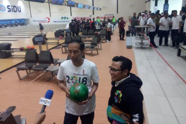 Jokowi Ajak Cak Imin Tinjau Venue Asian Games di Palembang