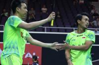 Kalahkan Pasangan Denmark, Hendra/Ahsan Lolos ke Babak Semi Final