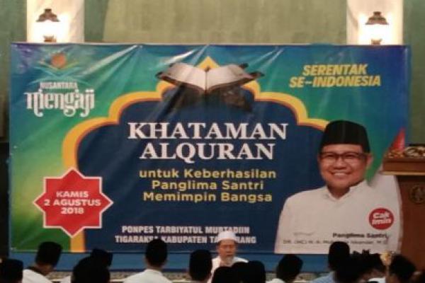 Doakan Cak Imin Cawapres, PKB Tangerang Gelar Khataman Alquran