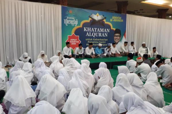 Ribuan Santri se Jawa Tengah Khataman Alquran Doakan Cak Imin