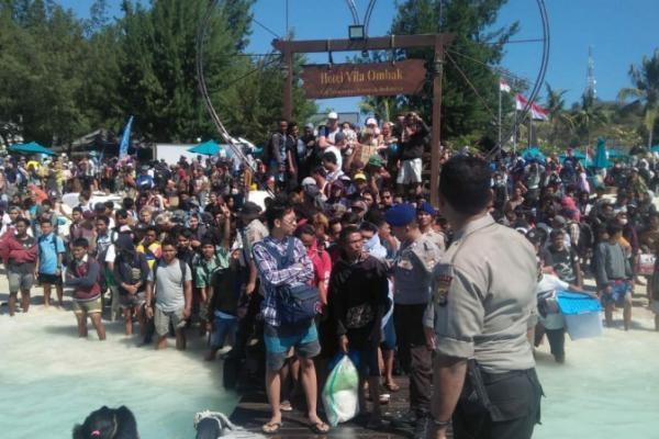BNPB Evakuasi Wisatawan di Gili Trawangan, Jumlahnya Capai 2.700 Orang