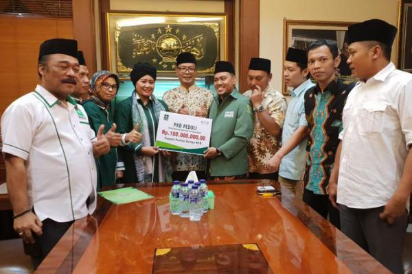 Peduli Lombok, PKB Salurkan Bantuan Rp 100 Juta Lewat LazisNU