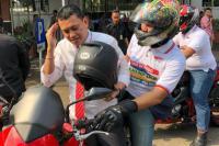 Ke KPU, 9 Sekjen Koalisi Jokowi Naik Motor Gede