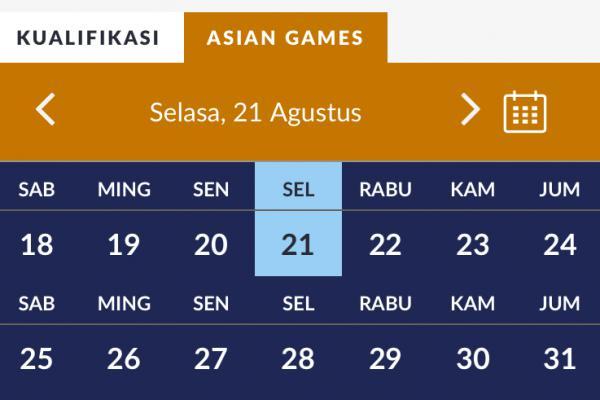 Berikut Jadwal Lengkap Asian Games 21 Agustus 2018