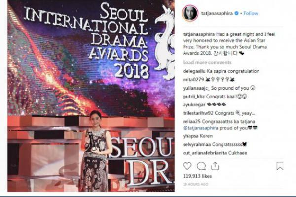 Aktris Indonesia Raih Penghargaan `Seoul International Drama Awards`