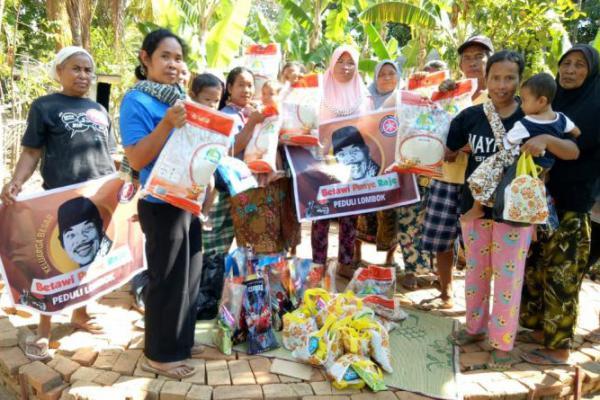 Peduli Korban Gempa Lombok, `Betawi Punya Raje` Kembali Salurkan Bantuan