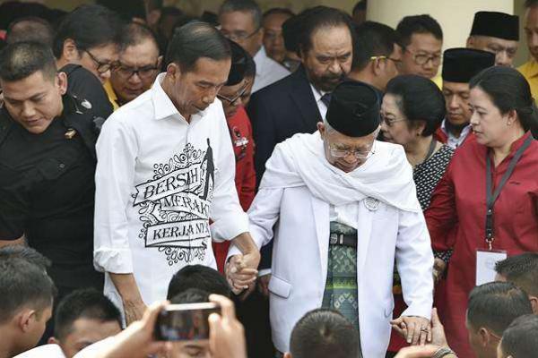 Jokowi Akan Berbagi Tugas dengan Kiai Ma`ruf Secara Fleksibel