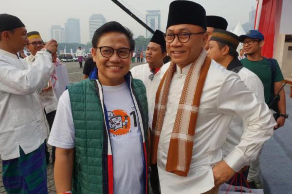 Beda Pilihan Pilpres 2019, Cak Imin dan Zulkifli Hasan Tetap Mesra
