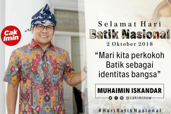 Hari Batik Nasional, Cak Imin Ajak Perkokoh Jati Diri Bangsa