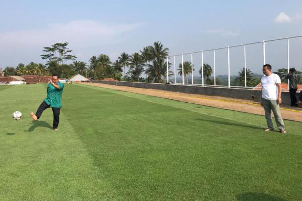Dibangun Dari Dana Desa, Lapangan Sakti Lodaya Berstandar Internasional
