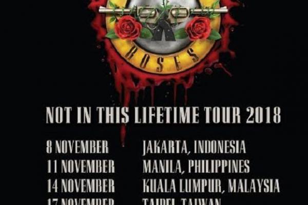 Siap Gelar Konser di Jakarta, Band Guns `N Roses Bawa 40 Ton Kargo