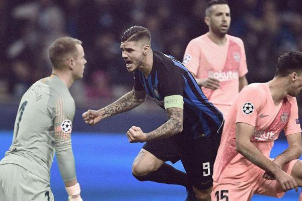 Inter Milan vs Barcelona Berbagi Poin, Skor: 1-1