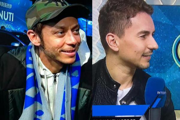 Pembalap MotoGP, Rossi dan Lorenzo Tonton Laga Inter Milan vs Barcelona