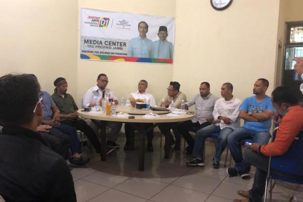 TKD dan Relawan se Jambi Gelar Konsolidasi Menangkan Jokowi