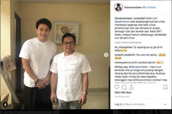 Cak Imin Sambangi Kediaman Ifan Seventeen di Jakarta