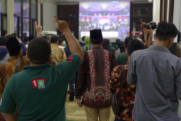 Masyarakat dan Kader Penuhi Area Nobar Debat Capres PKB