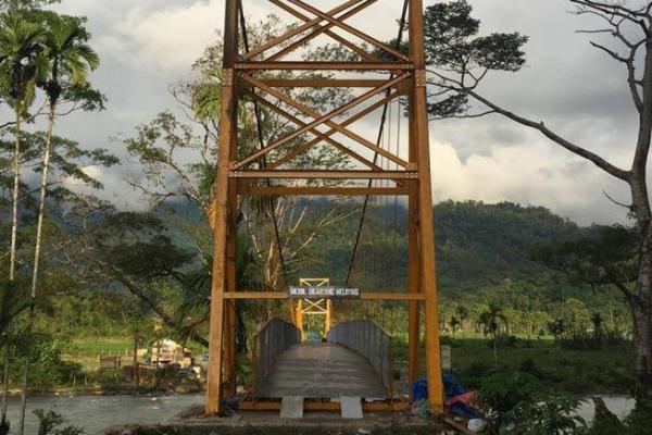 Pemerintah Bangun Jembatan Gantung Pante Ceureumen