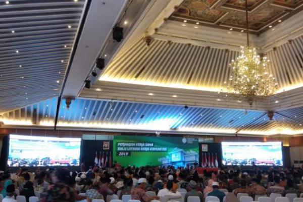 Presiden Jokowi Hadiri Penandatanganan Kerjasama BLK Komunitas di Grand Sahid Jakarta