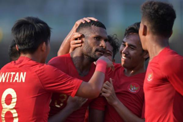 Dua Gol Marinus Bawa Indonesia ke Semi Final Piala AFF U-22