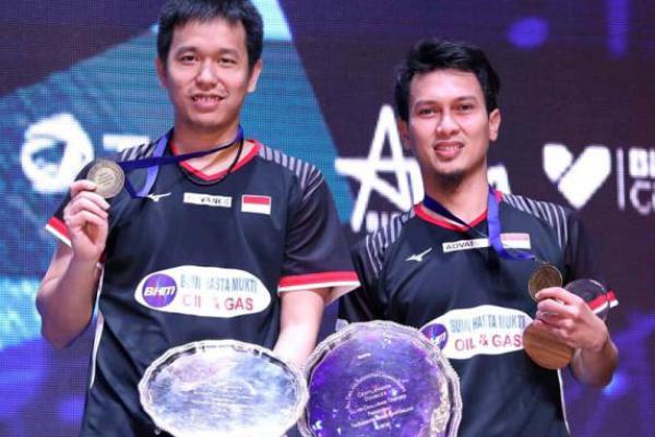 Jelang Indonesia Open 2019, Hendra/Ahsan Target Semifinal