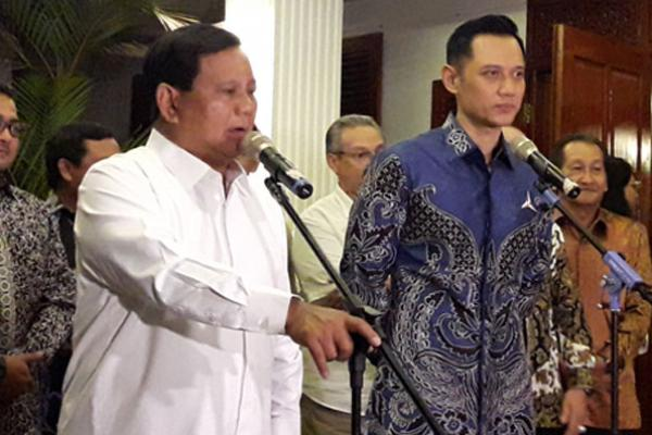 Prabowo Subianto dan AHY Bertemu, Ini yang Dibahas