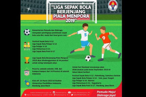 Kemenpora Gelar Liga Sepak Bola Berjenjang, Berikut Jadwal Lengkapnya!