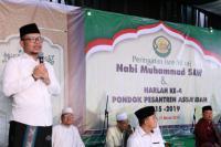 Hanif Dhakiri Hadiri Isra Mi`raj dan Harlah Ponpes Assa`adah Depok