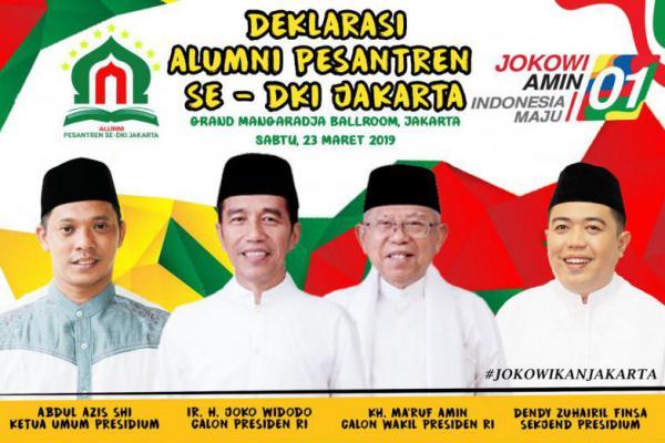 Alumni Pesantren se Jakarta Akan Deklarasi Dukung Jokowi