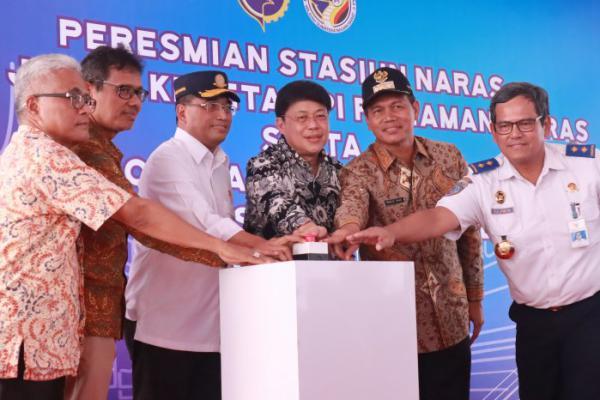 Menteri Perhubungan Resmikan Stasiun Naras di Kota Pariaman