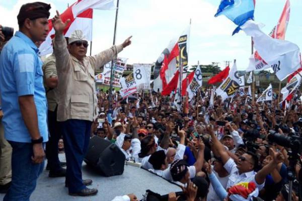 Prabowo Hadiri Kampanye Terbuka di Bali