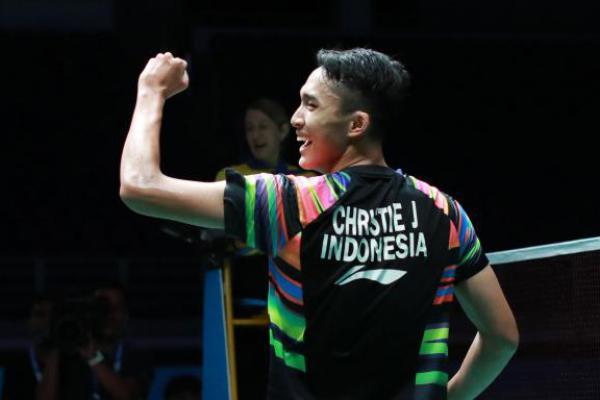 Jonatan Christie Tundukkan Wakil Denmark di Indonesia Open 2019