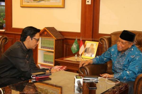 Komedian Andre Taulany Silaturahmi ke PBNU