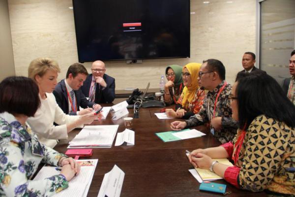 Bertemu Menteri Pekerjaan Australia, Hanif Dhakiri Promosikan `Dialog Sosial`