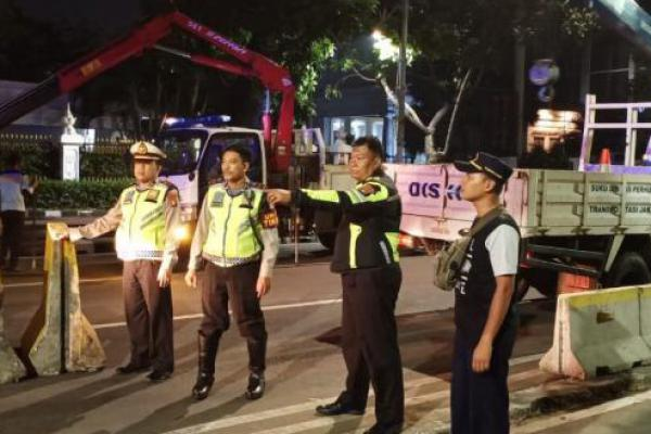 Polres Serang Gelar Razia Cipta Kondisi Cegah Massa ke MK